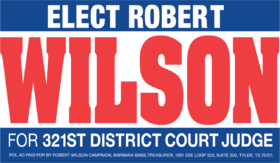 Robert Wilson for Judge