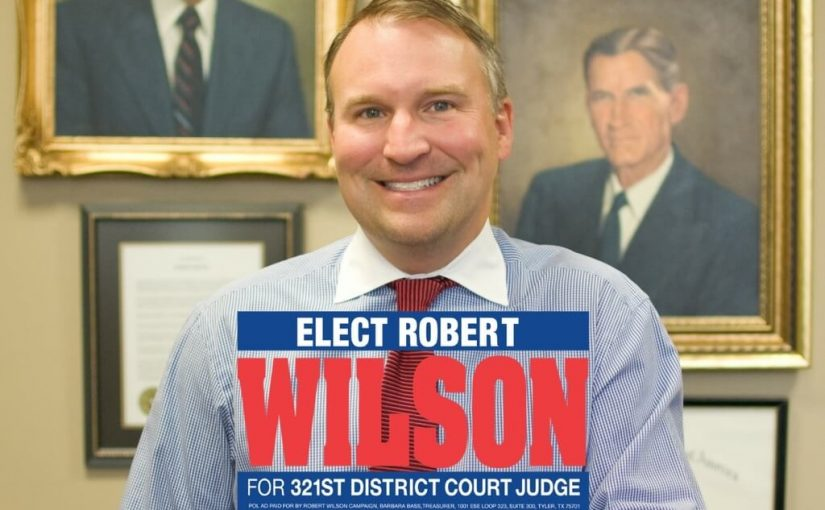 Robert Wilson Announces Running for Judge